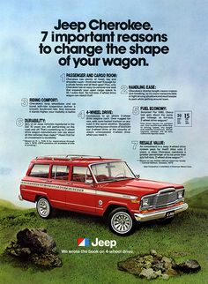 1980s Jeep Cherokee Resale Value Ad
