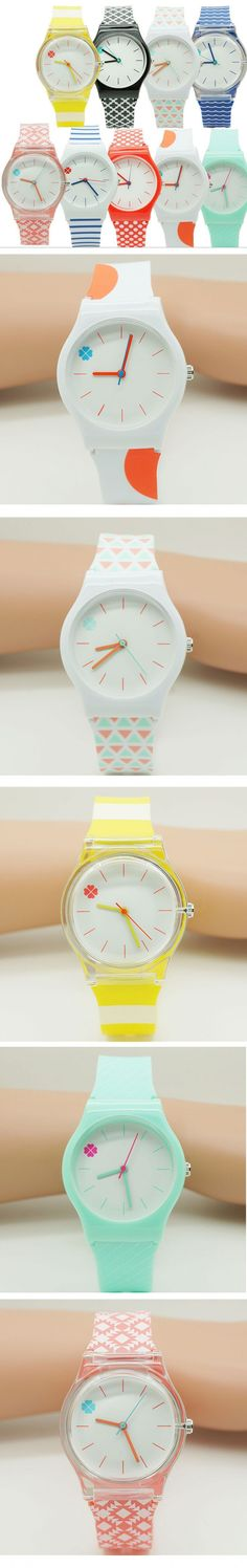 New Willis fashion watch watch Four Leaf Clover Design Water Resistant with Silicone kids Watch cartoon Wristwatch Gift 10pcs
