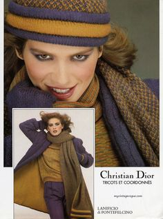 Gia Carangi for Christian Dior, 1979 Christian Dior Makeup, Christian Dior Vintage, Vintage Dior, Vintage Vogue, Vintage Couture, Vintage Ads, 70s Fashion, Fashion Art, Editorial Fashion