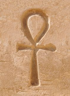 Ankh, the key of life, which represented eternal life to the ancient Egyptians. Life Symbol, Ankh Symbol, Egypt Tattoo, Egyptian Mythology, Egyptian Art, Ancient Symbols, Ancient Egypt, Kemet Egypt, Archaeological Finds