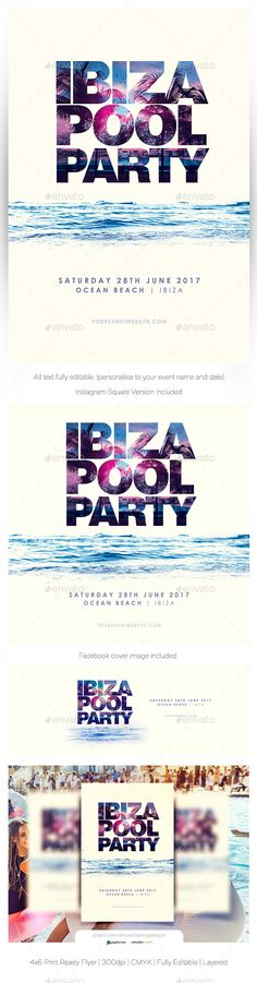 Ibiza Pool #Party - #Clubs & Parties Events Download here: https://graphicriver.net/item/ibiza-pool-party/19459504?ref=alena994