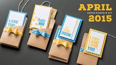 Paper Pumpkin Kit for April 2015! Subscribe before the 10th of next month to receive your kit in time for May! Here's the link to my Paper Pumpkin store: https://mypaperpumpkin.com/en/?demoid=2047537