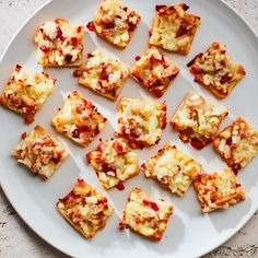 Bacon and Cheddar Toasts
