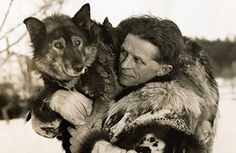 Togo the Sled Dog with Leonhard Sepalla. Two of the best to have ever traveled an Alaskan trail.