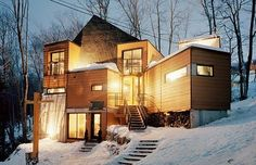 This adorable snow fort in Quebec took seven shipping containers to make. | 23 Surprisingly Gorgeous Homes Made From Shipping Containers