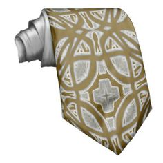 Decorative abstract pattern necktie