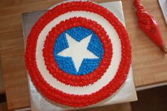 24 incredible superhero party ideas that kids will love and make adults wish they were kids again. From decor ideas, party foods, and costume ideas to superhero-themed activities, we have all of your party needs covered. Avengers Birthday Cakes, Superhero Birthday Party, 4th Birthday Parties, Birthday Ideas, Cake Birthday, 5th Birthday, Captain America Birthday Cake, Captain America Party, Capt America