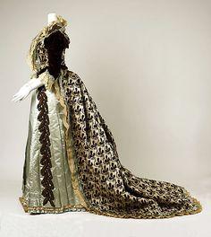 Designer:      Charles Frederick Worth (French (born England), Bourne 1825–1895 Paris)  Date:      1880s  Culture:      French  Medium:      silk