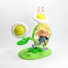 Flower Vanity Herself the Elf Toy Play Set with Doll, Butterfly Comb, Swivel Mirror