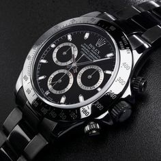 Black Rolex Daytona
