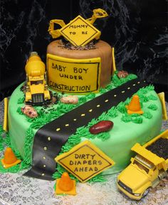 under construction baby shower - Google Search