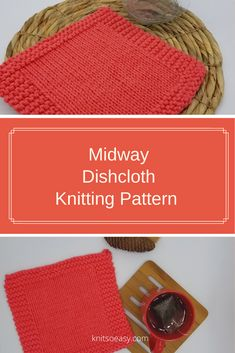 The Midway dishcloth/washcloth pattern is a great pattern for beginners or experienced knitters that need to knit a batch quickly. Fall Knitting, Dishcloth Knitting Patterns, Step By Step Instructions, Crochet Hats, Stitch, Knitting Hats, Full Stop, Stitching, Sew