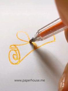 card making ideas for beginners simple Cute Easy Drawings, Art Drawings Sketches Simple, Art Drawings For Kids, Pencil Art Drawings, Doodle Drawings, Gel Pen Art, Gel Pens, Bullet Journal Writing, Bullet Journal Ideas Pages