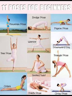 Easy peasy beginner yoga poses. It will take you no time at all to master these with patience and practice :)))