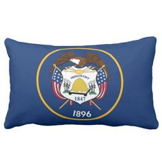 Utah State Flag- Pioneer Day, July 24. Statehood was January 4,1896