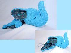 Schmusetücher - Schnuffeltuch blauer Elefant - ein Designerstück von Fly_Away bei DaWanda