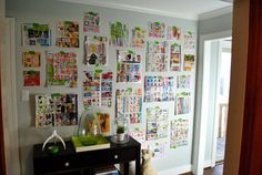 Using Paper Templates To Create A Giant Wall To Wall Frame Gallery | Young House Love