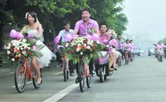 As long as you're haPPY :) this couple is riding bikes to their wedding. also obsessed w/ this blog :)