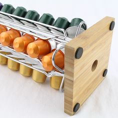 Meelio Nespresso Coffee Capsule Revolving Metal Rack Pod Holder for 40 Nespresso with Bamboo Base Coffee Pod Holder, Coffee Pods, Metal Rack, Nespresso, Pot Holders, Indie, Bamboo, Packaging, Base