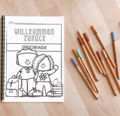 Willkommen zurück in der Schuls Bullet Journal, Classroom, Colorful, Stationery Store, Back To School, Teaching Materials, Language, Class Room