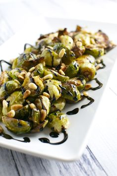 Roasted brussels sprouts, Balsamic glaze and Brussels sprouts on ...