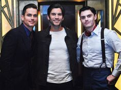 """moonchild30: """" Matt Bomer, Wes Bentley  and Evan Peters at the American Horror Story: Hotel press conference (October 1, 2015) """""""