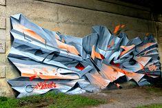 SONGE with a crazy dope concept piece Graffiti Drawing, Graffiti Murals, Mural Art, Street Mural, Street Art Graffiti, Illusion, Graffiti Pictures, Freaky Deaky, Graffiti Designs