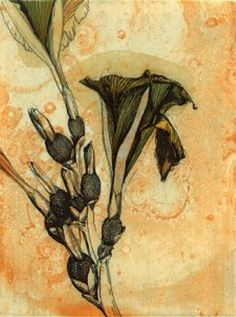 'Flower of Forest', Color Etching - Shinji Ando