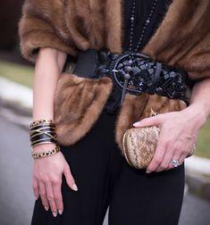 Candace Kristin mink belt