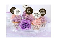 Ozdoby na cupcakes Sweet Love 6 ks. Ozdoby na cupcakes - Sweet Love mix 6 ks Cupcakes, Love Is Sweet, Cupcake Toppers, Birthday Cake, Sweets, Candy, Wedding, Design, Cute Love