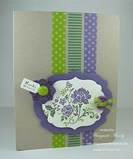 Stampin' Up - idea for Thanksgiving tree card.
