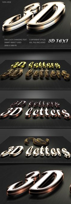3D Text Generator — Layered PSD #3d text #3d letters • Available here → https://graphicriver.net/item/3d-text-generator/4360521?ref=pxcr