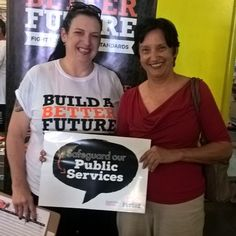 Cairns women show their support for maintaining our Public Services. #betterfuture #ausunions #publicservices #proudtobeunion