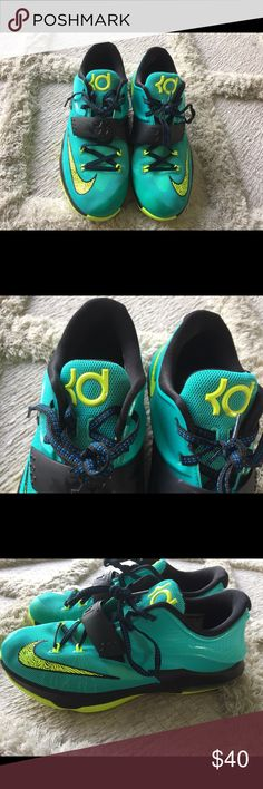 a00e3748bd4b Nike KD Nike KD basketball shoe Gently worn maybe twice Size 7 Color- Teal