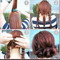 #easy #braid and twist #hair style another possible style for the dancers