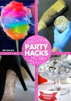New Years Eve Party Hacks- These New Year's Eve Party Hacks are actually fantastic all year long. You can use them for birthday parties, weddings, and so much more.