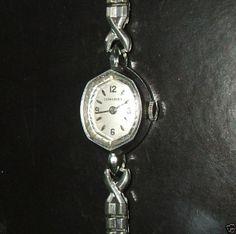 LONGINES Armbanduhr Uhr Antik ca. 50/60er Jahre Armband 10K Gold Weißgold Filled