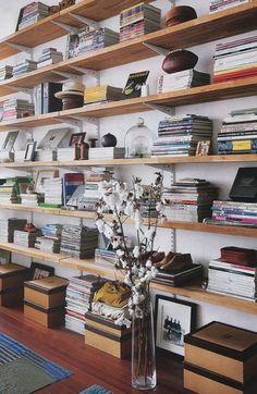 loaded shelves.