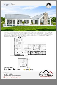 Farm house design Farm house design Image Size: 1242 x 1869 Source House Layout Plans, Barn House Plans, New House Plans, Dream House Plans, House Layouts, Small House Plans, Modern Barn House, Modern House Design, Modern House Floor Plans