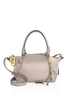 113bc155b4f Chloé Small Owen Leather  amp  Suede Satchel Suede Bracelet, Best Designer  Bags, Chloe