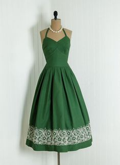 1950's dresses | cocktail dresses: Green cocktail dresses c.1950's-1960's