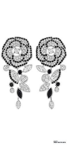 Camelia Ganse Earrings V Gems Jewelry, Jewelry Box, Jewelery, Jewelry Accessories, Fine Jewelry, Jewelry Design, Chanel Jewelry, Flower Earrings, Colored Diamonds