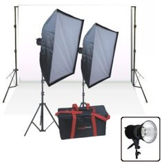 1. $369 Studiohut 2000 Watt Digital Halogen Photo Continuous Light Kit for Video/Digital Photography with background stand & white backdrop