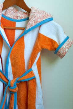 Cute robe for the beach or pool made from towels