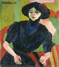 Ernst Ludwig Kirchner (1880 -1938) is de belangrijkste vertegenwoordiger van het Duits expressionisme en wordt door velen gezien als voorman van Die Brücke (de Brug), een kunstenaarscollectief dat van 1905 tot 1913 actief was en later uiteenviel.-1911