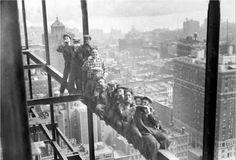 0125 Самые головокружительные фотографии со строительства небоскребов Нью Йорка