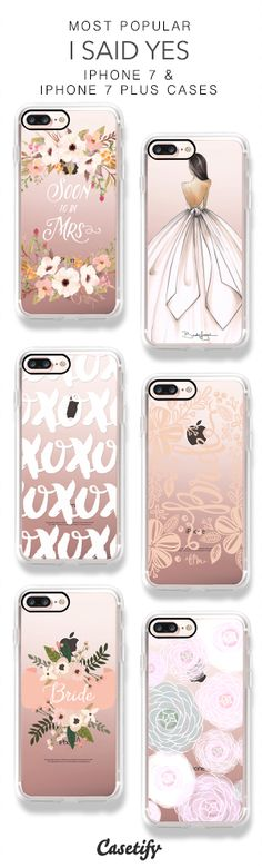 Most Popular I Said Yes iPhone 7 Cases & iPhone 7 Plus Cases here > https://www.casetify.com/collections/put_a_ring_on_it#/