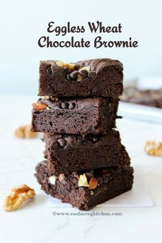 Coffee Brownies, Chocolate Brownies, Brownie Recipes, Cake Recipes, Dessert Recipes, Eggless Desserts, Eggless Recipes, Eggless Baking, Amazing Chocolate Cake Recipe