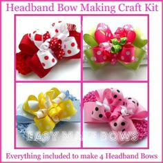 Kids Craft,lots of Dots,how to Make Hair Bow Instructions Assembly Kit,headbands,Ribbon,accessories for Ages 9  Up. Creativity Gift Ideas. by Easy Make Bows, www.amazon.com/... books-worth-reading