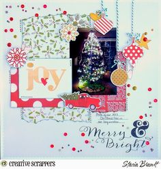 Creative Scrappers layout by stacia brandt